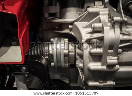 Engine with radiator of a modern car . #1051515989