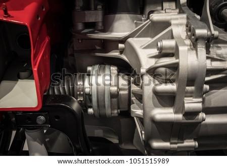 Engine with radiator of a modern car . #1051515989