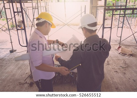 engineer and architect working...