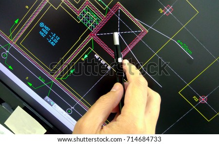 engineer calculating an estructure fundation on computer