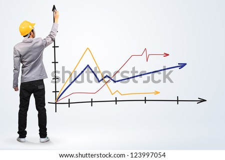 engineer drawing a graph