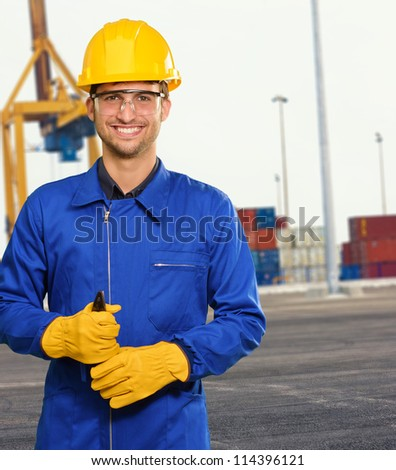 Engineer Holding Plier, Outdoor