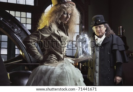 Engineer in their laboratory - stock photo