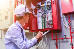 Engineer inspection Industrial fire control system