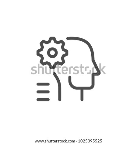 Engineer line icon isolated on white