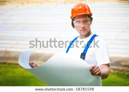 engineer looking at the construction project
