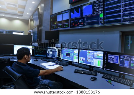 Engineer looking to work in the electrical control room #1380153176