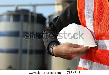 engineer standing on location site