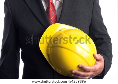 Engineer with yellow hard hat