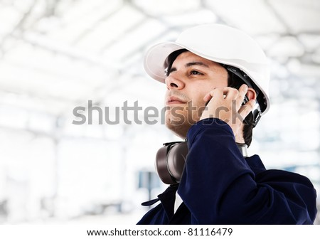 Engineer working in a construction site