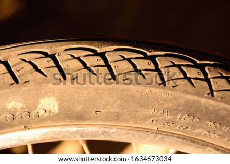 Engineered motorcycle wheel parts. Mechanical engineering design and technology image, dark tone and Selective Focus
