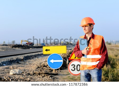 engineering construction company, is building a new road Working