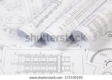 Engineering drawings of the drive roller chains. Engineering and Science. #571530190