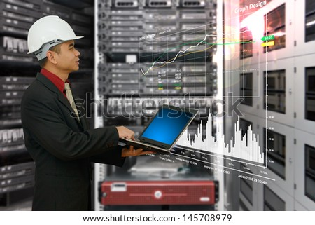 Engineering in data center room