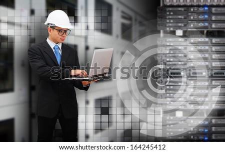 Engineering in data center room