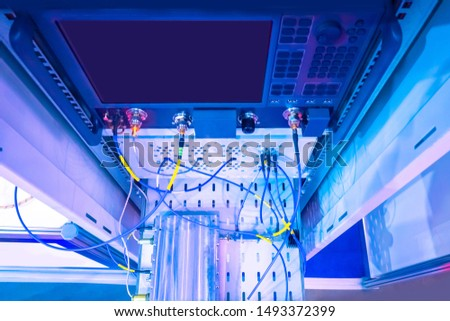Engineering Laboratory. Measurements in lab conditions. Electronic equipment for measurements. Modern electronic lab. Research activity. Scientific activity. Scientific research.