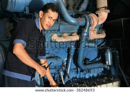 Engineering stand by in machine room