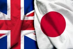 England and Japan flag together
