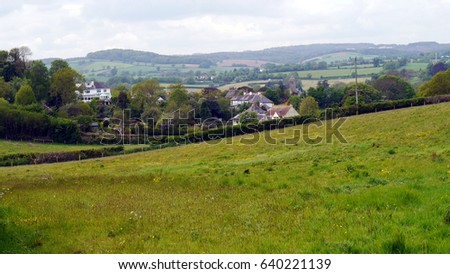England Countryside Landscape in Spring