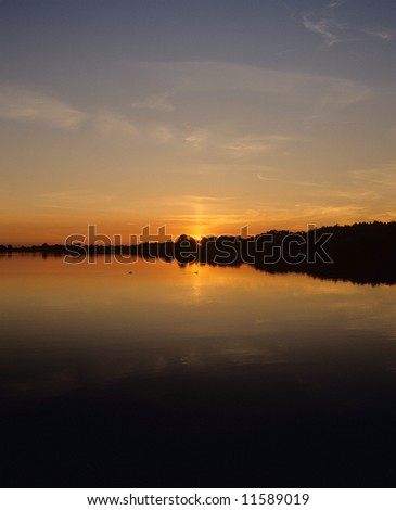 england east anglia the norfolk broads national park filby broad at sunset