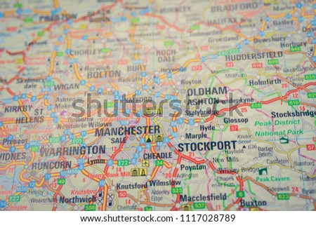 Map Of England Knutsford.Birmingham City England On Atlas World Map Images And Stock Photos