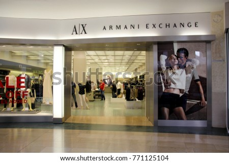 061f0e1c393d Circa July 2014 Store front of a Armani Exchange store located in