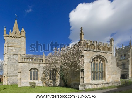 england worcestershire the historic market town of evesham Churches of  St Lawrence and Abbot Lichfield s 16th Century Bell tower