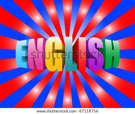 english - stock photo