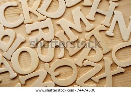 English alphabet background - stock photo