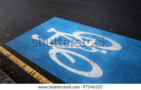 English bicycle lane sign