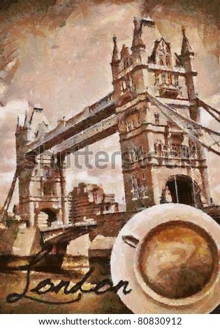 English coffee in London - stock photo
