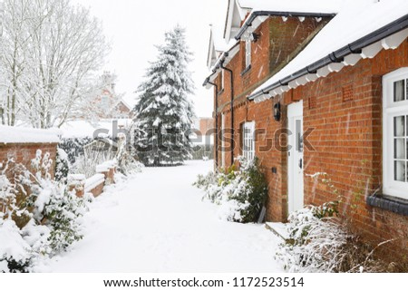 english country home in winter...