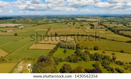 English countryside, concept of farming and rural living in Merriott, Somerset, UK