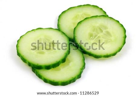 English cucumber slices