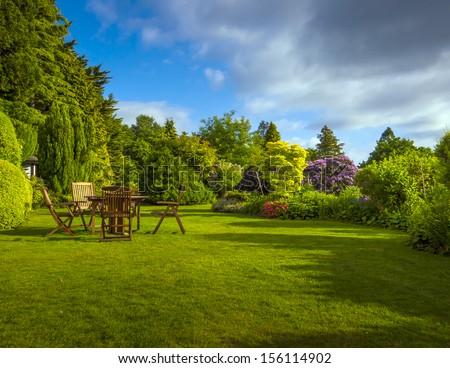 English Garden in late summer