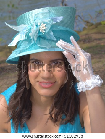 English Lady style - Ascot horse race style concept