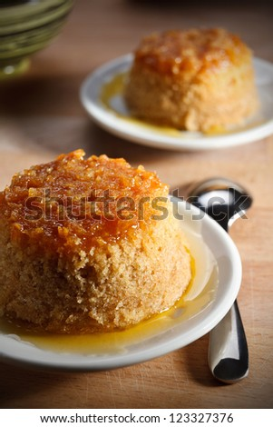 English pudding with ginger