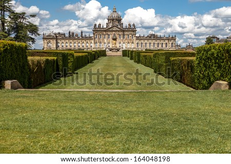 English stately home near the city of York in North Yorkshire, UK.