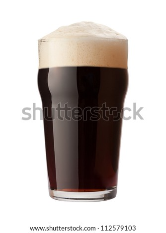 English Stout Isolated on white with a clipping path Stock photo ©
