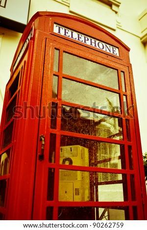 English style red phone box