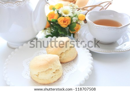 english tea and scone for afternoon tea image