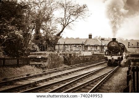 english vintage steam train