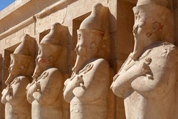 Engraved figures on the Egypt pillars.