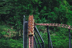 Enjoy a roller coaster ride