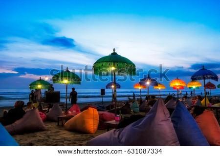Enjoy sunset at Seminyak (Kuta) Bali - Indonesia