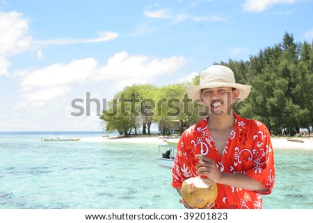 enjoy tropical beach