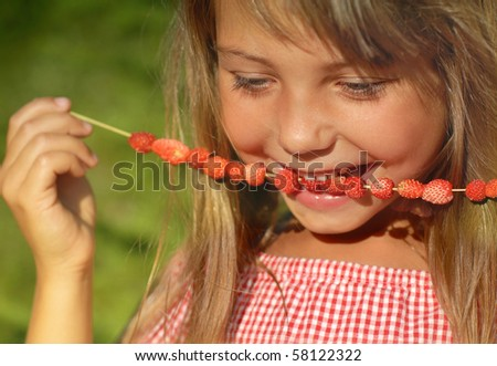 Enjoying summer fruit
