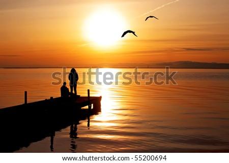 enjoying the scenery Foto stock ©