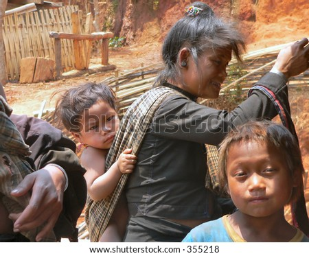 Enn Tribe people in Num Lin Kong village Myanmar.