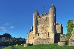 Enniskillen Castle standing on the banks of Lough Erne in Northern Ireland.